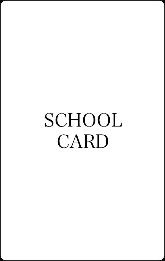 スクールカード(中、高生)